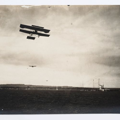 Lucien Loth (1885 1978)  Planes flying over the masts  Aviation Week, August 190…