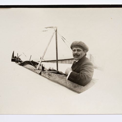 Lucien Loth (1885 1978)  Louis Blériot, two portraits, aircraft n°22 on the grou…