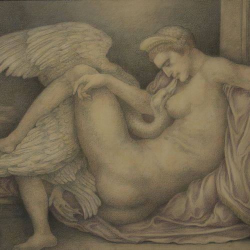 Leonard SARLUIS (1874 1949)  Self portrait as Leda and the Swan  Pencil on paper…