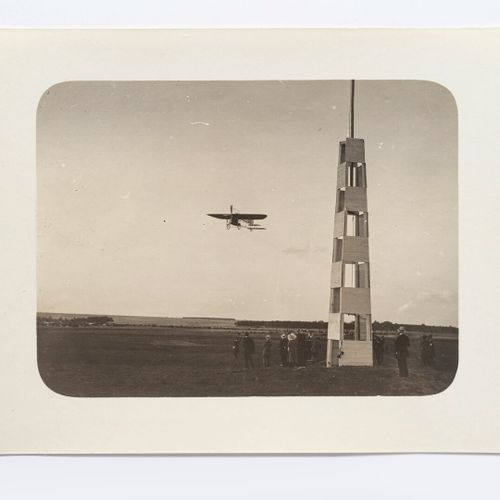 Lucien LOTH (1885 1978)  Louis Blériot, n°22, passes the signal mast  Aviation w…