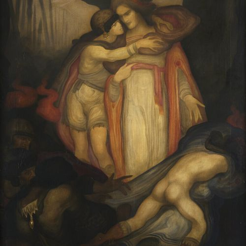 Léonard SARLUIS (1874 1949)  The Arrest of Christ  Oil on canvas, signed and dat…