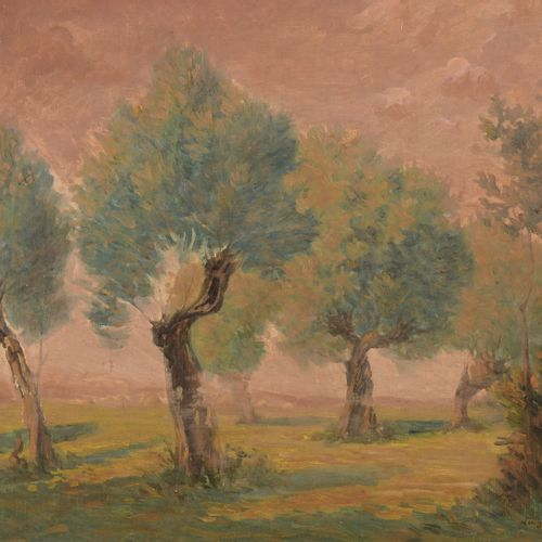 Léo GAUSSON (1860 1944)  The clearing, 1885  Oil on canvas, signed lower right. …