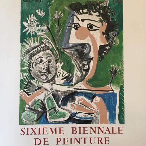 D'après PICASSO (1881 1973)  La 6eme biennale de peinture à Menton juillet septe…
