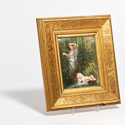 """Germany PORCELAIN PAINTING """"THE FINDING OF MOSES"""". Germany. Porcelain, painted i…"""
