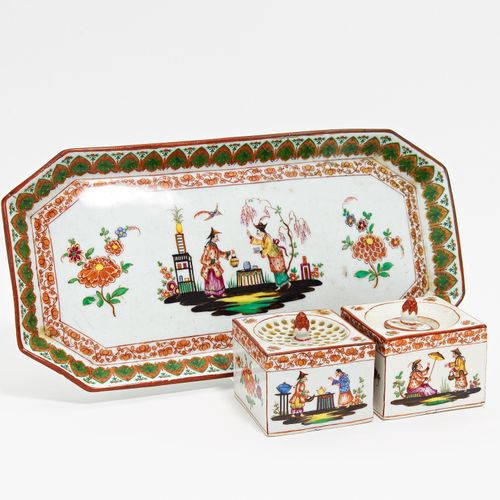 Meissen PORCELAIN WRITING SET WITH CHINOISERIES. Meissen. 19th century. Porcelai…