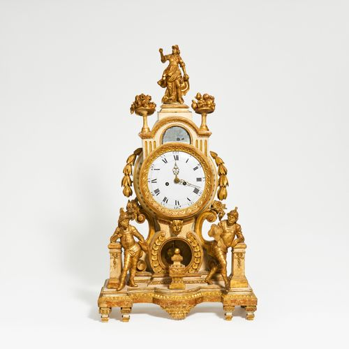 South Germany WOODEN CLASSICISM CLOCK. South Germany. Date: Late 18th century. T…