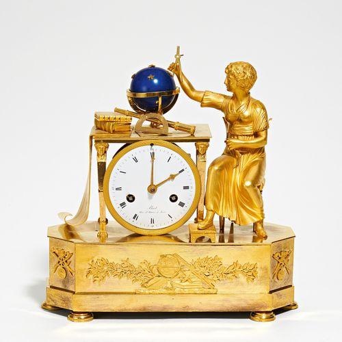 Paris GILT BRONZE PENDULUM CLOCK WITH ALLEGORY OF ASTRONOMY. Paris. Date: Around…