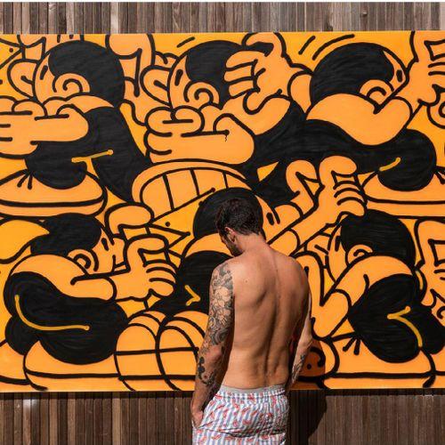 """Muretz MAURO TAJARA (MURETZ) """"STREET ART """"HST 250X180 SANS CADRE. Street artiste…"""