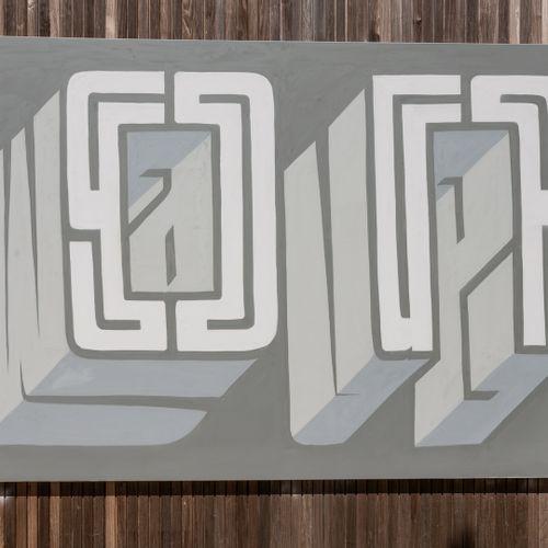 """Alex Geoffrey ALEX GEOFFREY (PREF) """"ON"""" HST 250X180 SANS CADRE Artiste londonien…"""