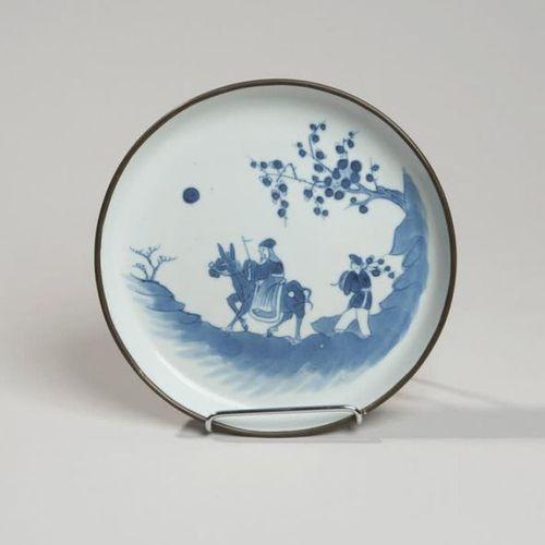 VIETNAM, Hue XIXe siècle Porcelain bowl with blue decoration under the cover of …