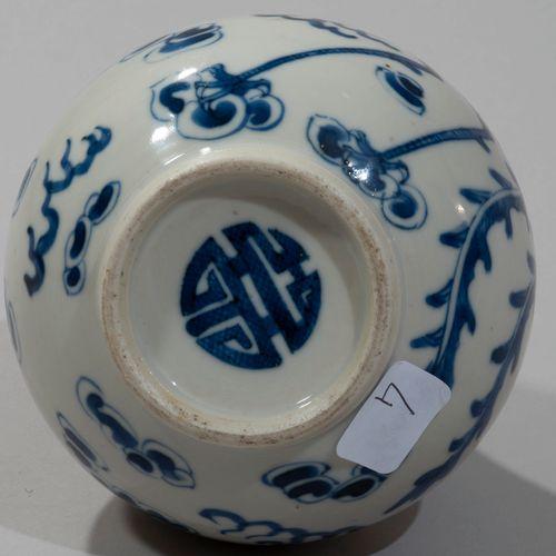 VIETNAM, Hue XIXe siècle Porcelain bottle shaped vase decorated in blue under th…