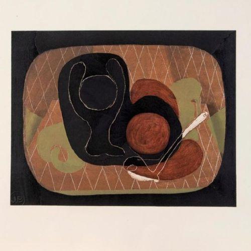 Georges BRAQUE (1882 1963) •Nature morte, 1933, Pochoir en couleurs sur vélin, é…