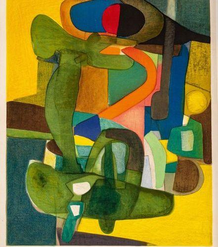 Maurice ESTEVE L'envol, 1958 (Prudhomme Esteve, Moestrup, 28) •Lithographie en c…