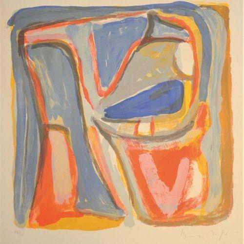 Bram VAN VELDE (1895 1981) •Composition abstraite Lithographie en couleurs sur v…