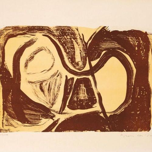 Bram VAN VELDE (1895 1981) •Composition abstraite, 1963 (brune) Lithographie en …