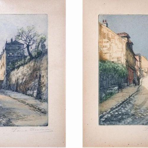 Gen PAUL (1895 1975) Eugène Paul dit •Rue des Saules et Rue de l'Abreuvoir 2 eau…