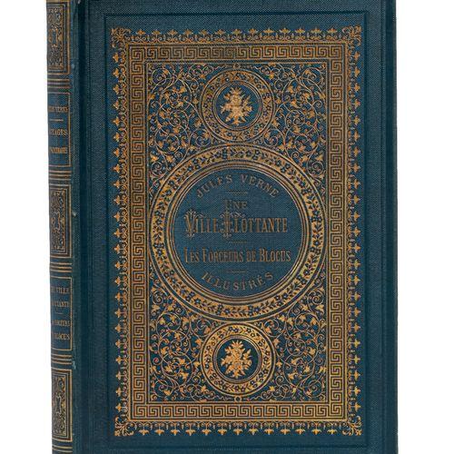[Mers et Océans] Une ville flottante par Jules Verne. Illustrations de Férat. Pa…