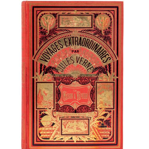 [Indes] La Maison à Vapeur par Jules Verne. Illustrations de Benett. Paris, Bibl…