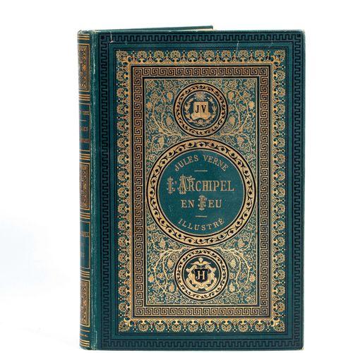 [Grèce] L'Archipel en feu par Jules Verne. Illustrations de Benett. Paris, Bibli…