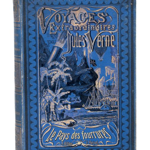 [Terres polaires] Le Pays des Fourrures par Jules Verne. Illustrations de Férat …