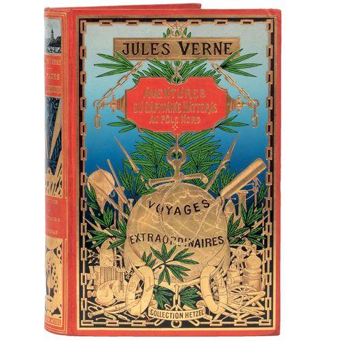 [Terres polaires] Voyages et Aventures du capitaine Hatteras par Jules Verne. Il…