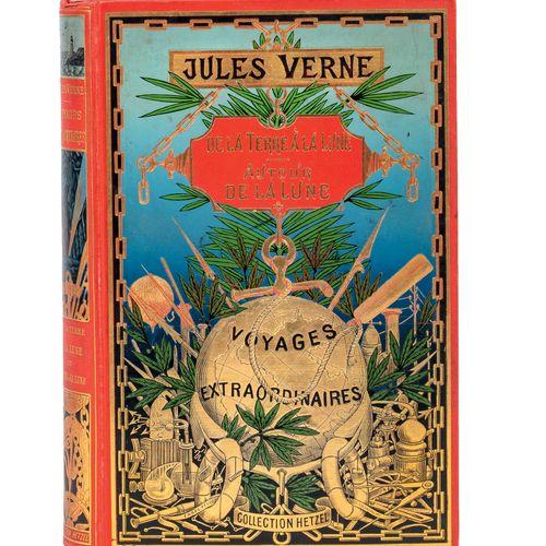 [Espaces célestes] De la Terre à la Lune / Autour de la Lune par Jules Verne. Il…