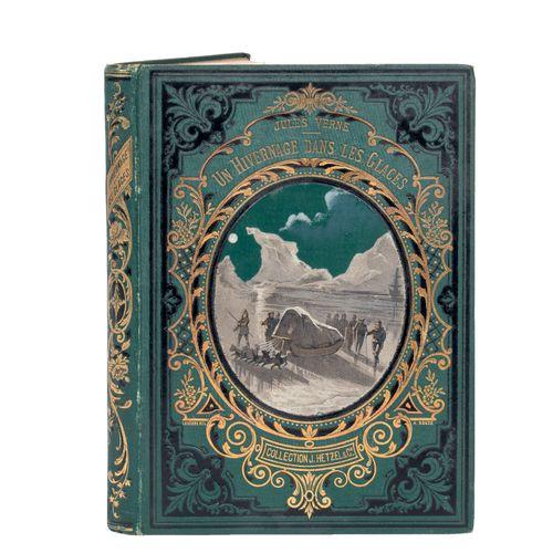 [Terres polaires] Un hivernage dans les Glaces par Jules Verne. Illustrations pa…