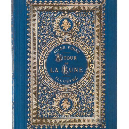 [Espaces célestes] Autour de la Lune par Jules Verne. Illustrations par d'Émile …
