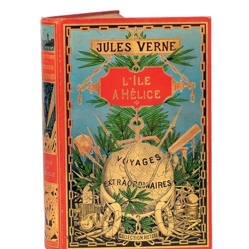 [Océanie] L'Île à hélice par Jules Verne. Illustrations de L. Benett. Paris, Bib…