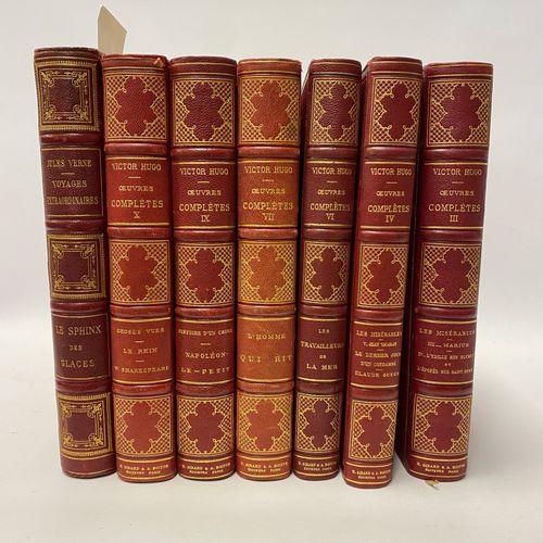 Jules VERNE, Le Sphinx des Glaces, collection Hetzel. On y joint six volumes des…