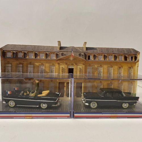 NOREV. SIMCA présidentielle modèle Chambord, deux miniatures berline et découver…