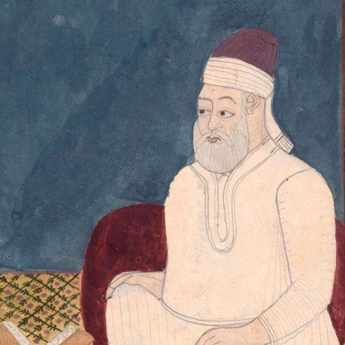 Ensemble de huit portraits Indiens. Pigments sur papier Inde, Deccan, XVIIIe siè…