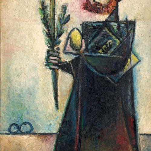 Pinchas SCHAAR (1923 1996) • Personnage hébraïque, 1953 Huile sur toile, signée …