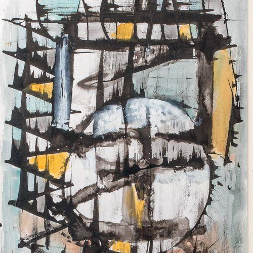 Joseph LEVIN (1894 1979) • Composition, 1970 Gouache sur papier, signée et datée…
