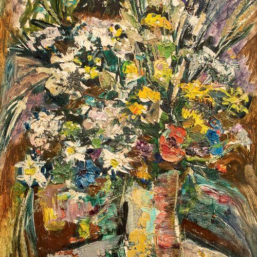 Raphael CHWOLES (CHVOLES) (1913 2002) • Bouquet de fleurs Huile sur carton, sign…