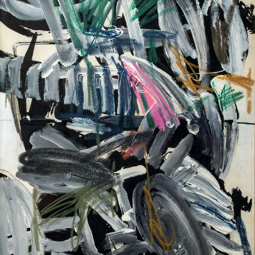 Ladislas KIJNO (1921 2012) • Composition, 1960 Technique mixte sur papier marouf…