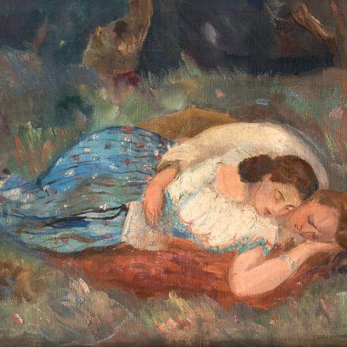 Jacques GOTKO (1899 1944) • Deux amis, 1923 Huile sur toile, signée et datée en …