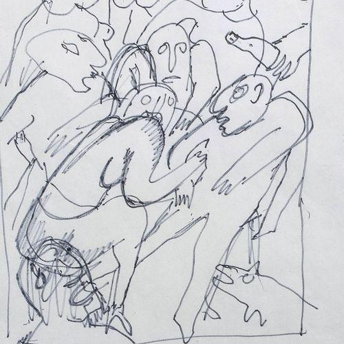 Bengt LINDSTRÖM (1925 2008) • Buveurs Feutre sur papier, signé en bas à droite 2…