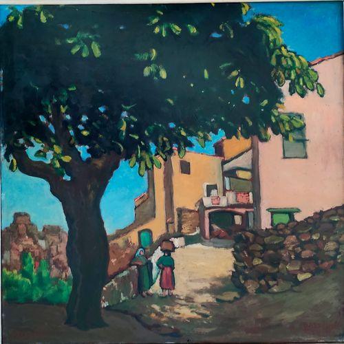Augustin Grass Mick (1873 1963) • Belgodère, Corse, 1914 Huile sur panneau signé…
