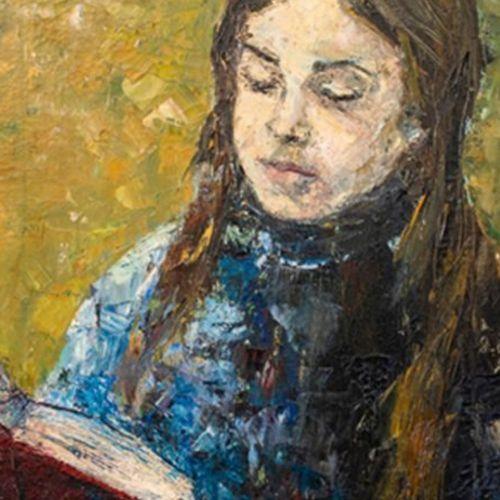 SADJI (Sha Qi) dit (1914 2005) • Une femme lisant Huile sur toile, signée en bas…