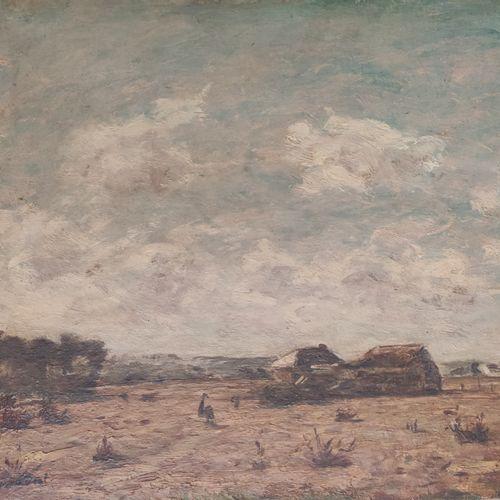 Louis BRAQUAVAL ( 1854/60 1929) Paysage de Normandie Huile sur panneau, signée e…