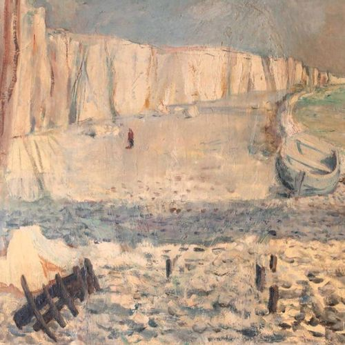 ALEXANDRE SASCHA GARBELL (1903 1970) • Paysage de Normandie Huile sur panneau, s…
