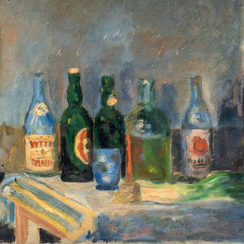 PIERRE TAL COAT (1905 1985) • Nature morte aux bouteilles, 1928 Huile sur toile,…