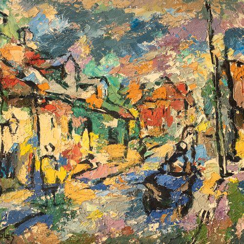 Raphael CHWOLES (CHVOLES)(1913 1922) • Paysage urbain Huile sur toile, signée en…