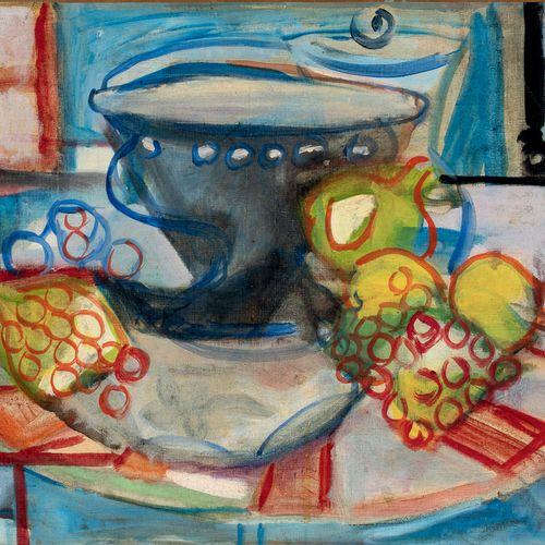 PIERRE TAL COAT (1905 1985) • Citrons et raisins, 1943 Huile sur toile, signée e…