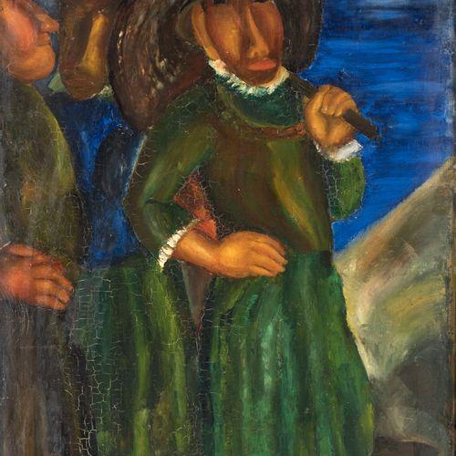 PIERRE TAL COAT (1905 1985) • Promenade, circa 1926 Huile sur toile, petites cra…