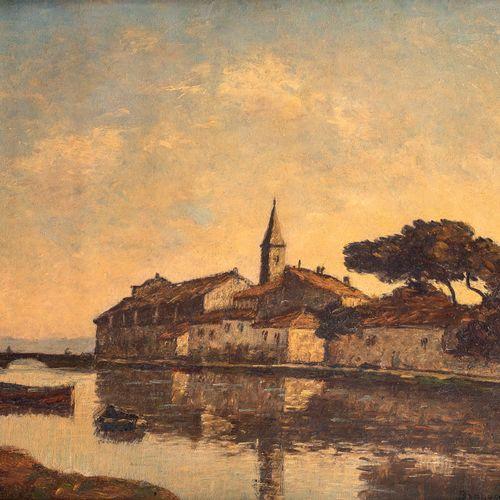 Louis BRAQUAVAL (1854/60 1929) • Paysage de Martiques (Quai de la Bordigues) Hui…