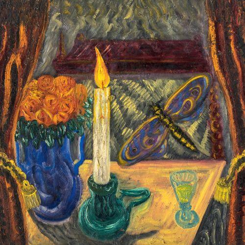 P. BAZOIN (XX siècle) • Paysage Huile sur isorel, signée en bas à droite, 60 x 7…