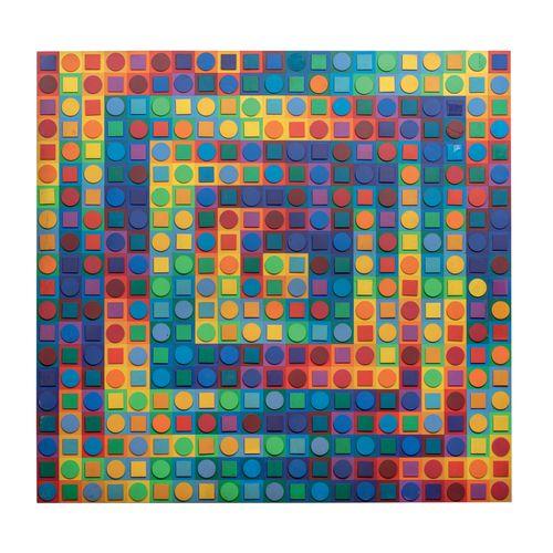 Victor VASARELY (1906 1997) Kanta ORION, prototype, c.1970 Collage d'éléments en…