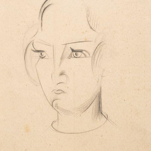 Emmanuel GONDOUIN (1883 1934) • Portrait de femme Dessin au crayon sur papier, c…